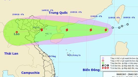Áp thấp nhiệt đới đã mạnh lên thành bão - cơn bão số 5 trên biển Đông ảnh 1