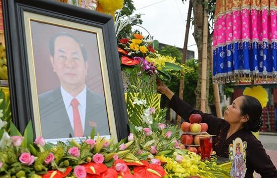 Linh cữu Chủ tịch nước đã về quê hương Quang Thiện ảnh 43