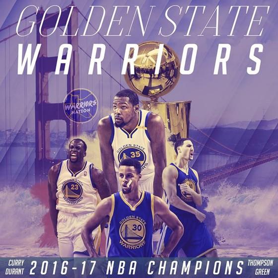 Golden State Warriors trở thành tân vô địch NBA.