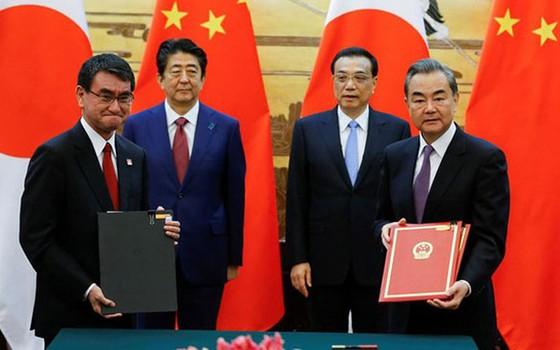 Nhật Bản và Trung Quốc ký hàng loạt thỏa thuận ảnh 1