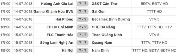 Lịch thi đấu vòng 19 Nuti Cafe V.League 2018: Hải Phòng tiếp Bình Dương ảnh 1
