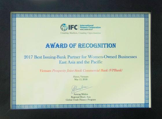 VPBank là ngân hàng phát hành tốt nhất do phụ nữ làm chủ ảnh 1