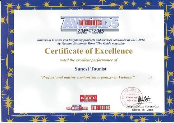 Sanest Tourist đạt giải thưởng The Guide 2017-2018 ảnh 2