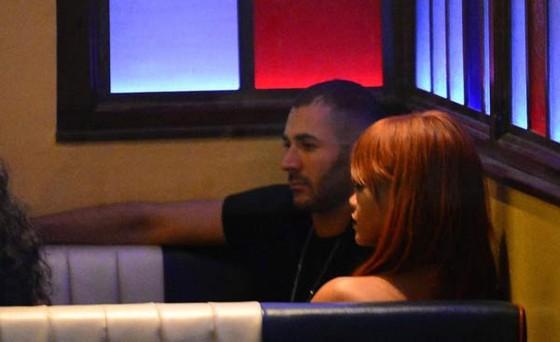 Benzema và Rihanna hẹn hò vào năm 2015.