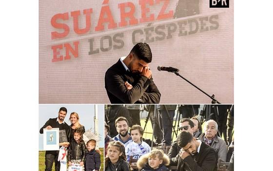 Giọt nước mắt hạnh phúc của Suarez.