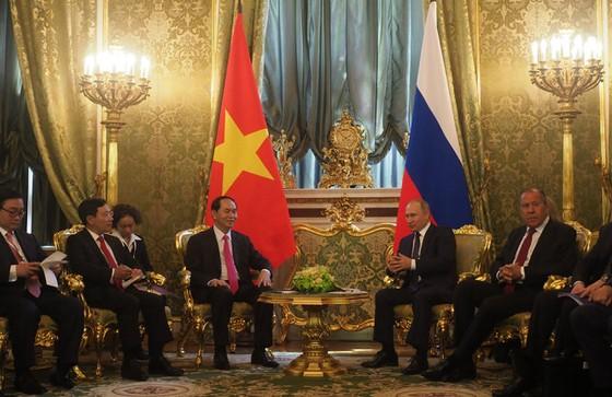 Chủ tịch nước Trần Đại Quang hội đàm với Tổng thống Putin