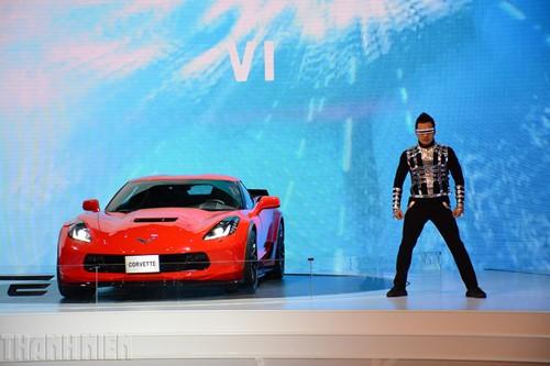 'Gã cơ bắp' Chevrolet Corvette Grand Sport khuấy động Vietnam Motor Show 2017 - ảnh 1