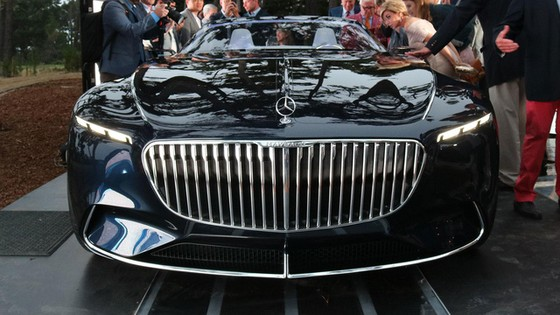 Chiêm ngưỡng vẻ đẹp xuất sắc của Vision Mercedes-Maybach 6 Cabriolet ngoài đời thực - Ảnh 4.