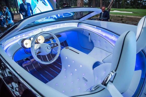 Chiêm ngưỡng vẻ đẹp xuất sắc của Vision Mercedes-Maybach 6 Cabriolet ngoài đời thực - Ảnh 8.