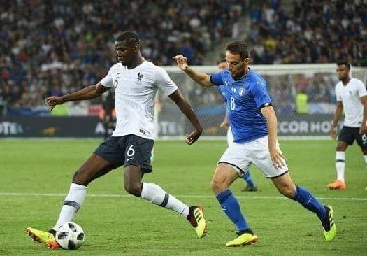Paul Pogba chơi không hay ở trận thắng Ý.