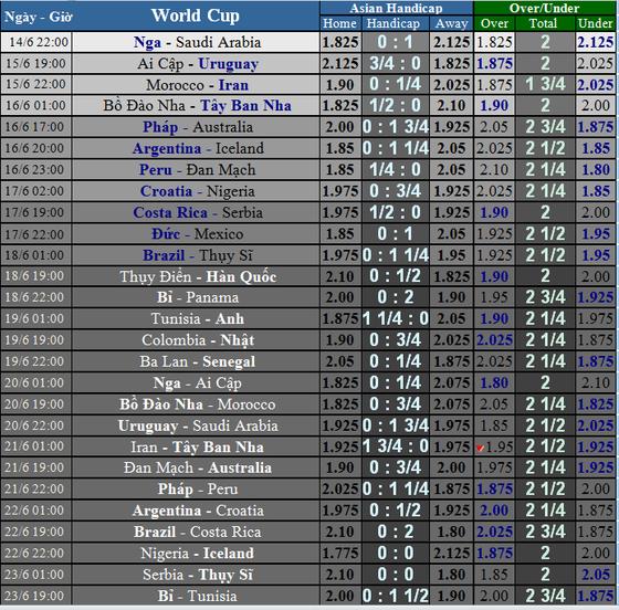 TRƯỚC GIỜ BÓNG LĂN: Lịch thi đấu WORLD CUP ngày 14 và 15-6  ảnh 1