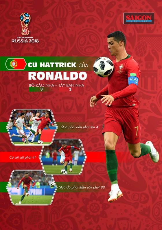 MÓN QUÀ TẶNG BẠN ĐỌC: Cú hattrick của Cristiano Ronaldo (Infographic) ảnh 1