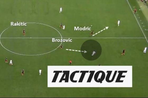 Sự vững chắc của Brozovic giúp cho Modric và Rakitic thoải mái tỏa ra hai hướng tấn công.