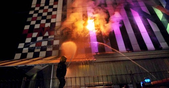 Cháy tiệm hát karaoke ở Trung Quốc, 18 người thiệt mạng ảnh 1