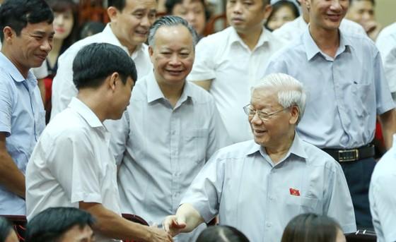 Tổng Bí thư: Mong cử tri hết sức tỉnh táo, tin tưởng sự lãnh đạo của Đảng, Nhà nước, Chính phủ ảnh 1