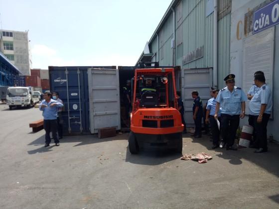 Phát hiện 7,3 tấn nghi vảy tê tê ngụy trang trong các khúc gỗ ở cảng Cát Lái ảnh 1