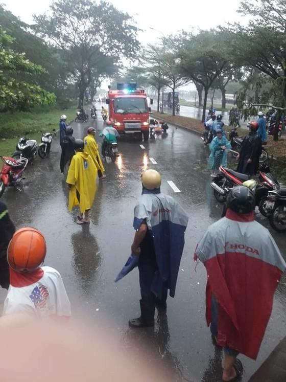 TPHCM mưa lớn, cây xanh bật gốc ngã đè người đi đường tử vong ảnh 1