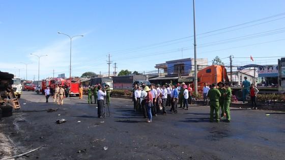 Khởi tố vụ xe bồn chở xăng chạy gần 100 km/ giờ gây cháy làm 6 người chết ở tỉnh Bình Phước ảnh 3