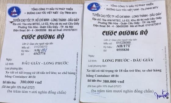 Xuất hiện tình trạng làm giả vé cước đường bộ cao tốc TPHCM - Long Thành - Dầu Giây ảnh 1