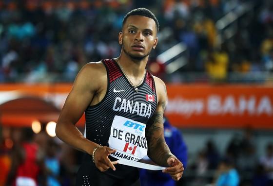 Điền kinh: De Grasse muốn phá kỷ lục 100m của Canada