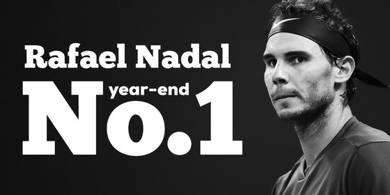 """Rafael Nadal trở thành """"Nhà vua ATP"""" của mùa giải 2017"""