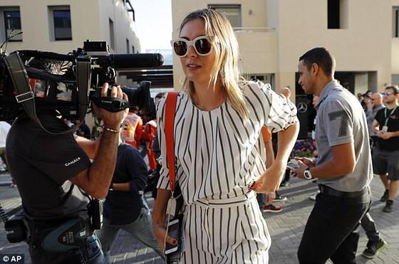 Sharapova rạng rỡ và thời trang ở Abu Dhabi Grand Prix ảnh 3