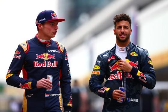Ricciardo (phải) và Verstappen