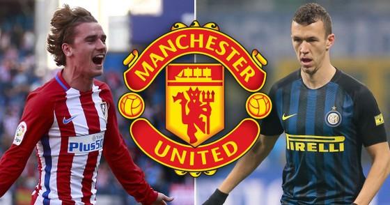 Antoine Griezmann (Atletico) và Ivan Perisic (Inter). Ảnh: Irish Mirror.