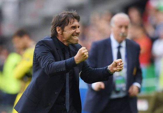 Không ai tin là Antonio Conte có thể đánh bại La Roja của Del Bosque ở EURO 2016. Ảnh: Getty Images.