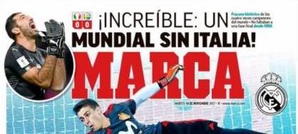 Play-off World Cup 2018: Thế giới bóng đá sốc trước thất bại của Italia ảnh 2
