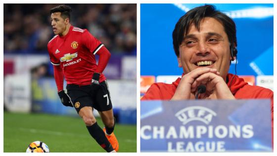 HLV Vincenzo Montella (phải, Sevilla) cảnh báo mối đe dọa từ Alexis Sanchez (Manchester United)