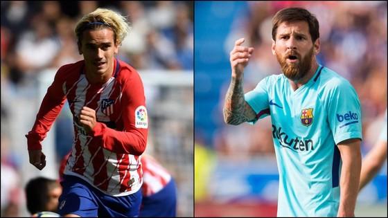 Antoine Griezmann và Leo Messi.