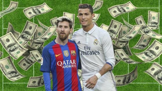Messi và Ronaldo dẫn đầu danh sách cầu thủ thu nhập cao nhất thế giới.