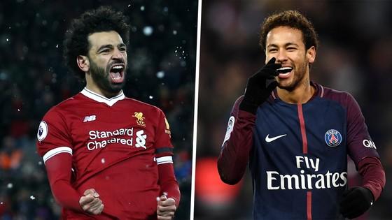 Mo Salah (Liverpool) và Neymar (PSG).