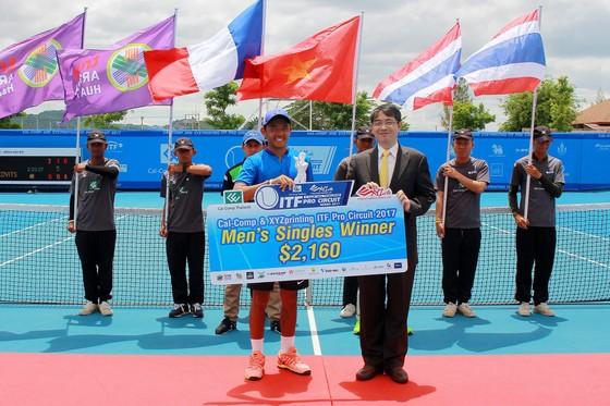 Lý  Hoàng Nam vô địch đơn giải Men's Futures F3 Thái Lan ảnh 2
