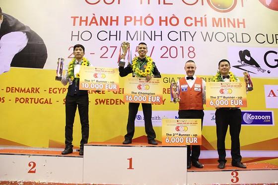 Giải Billiards 3 băng World Cup 2018: Trần Quyết Chiến lần đầu vô địch Biliards thế giới ảnh 1