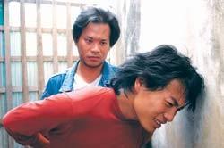 Trương Thanh Long (vai Sid) trong một cảnh quay.