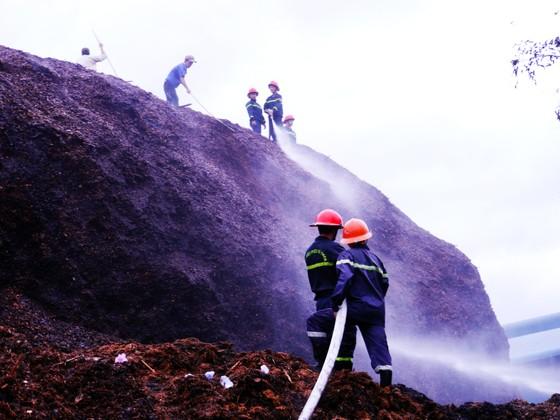 Cháy lớn tại bãi dăm gỗ trị giá trên 100 tỷ đồng ảnh 1