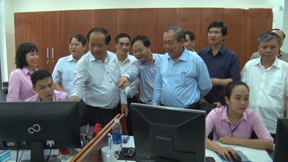 Phó Thủ tướng Trương Hòa Bình kiểm tra công tác cải cách hành chính tại Quảng Nam ảnh 1