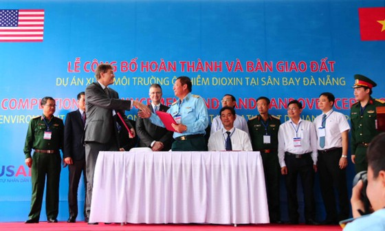Hoàn thành xử lý ô nhiễm dioxin tại sân bay Đà Nẵng ảnh 1