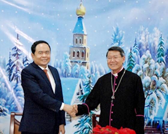 Chủ tịch Ủy ban Trung ương MTTQ Việt Nam Trần Thanh Mẫn chúc mừng Giáng sinh tại Tiền Giang ảnh 1