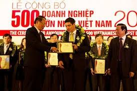 Công bố Top 500 DN lớn Việt Nam năm 2016 ảnh 1