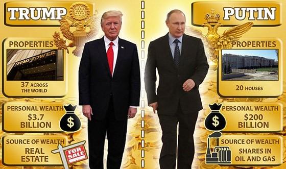 Putin giàu vượt xa Trump? ảnh 1