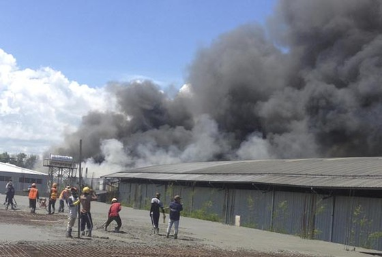 Cháy lớn tại khu chế xuất Linh Trung 2 ảnh 1