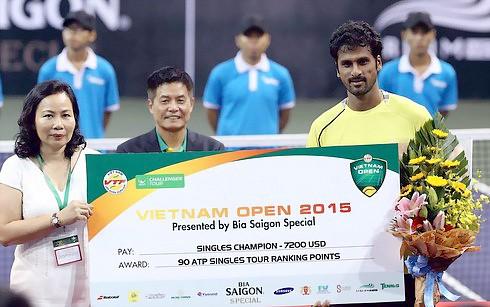Saketh Myneni (Ấn Độ) vô địch Vietnam Open ảnh 1