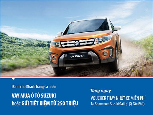 Viet Capital Bank ưu đãi vay mua xe Suzuki ảnh 1