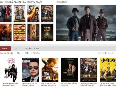 Phim lậu website không bản quyền: Nhiều bẫy ảnh 1