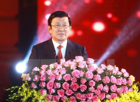 Chủ tịch nước chúc tết Bính Thân 2016 ảnh 1