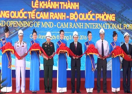 Khai trương Cảng Cam Ranh cung ứng dịch vụ hàng hải ảnh 1