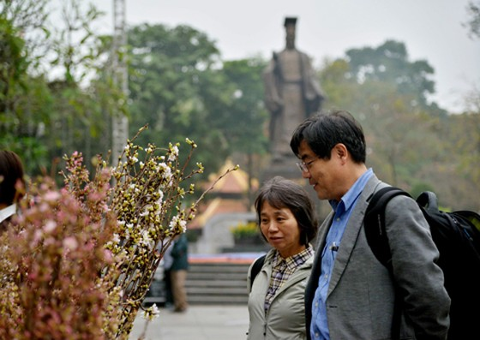 Hà Nội: Cận cảnh ngắm hoa anh đào Nhật Bản ảnh 3
